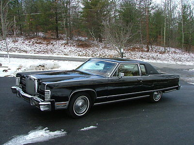 1977 Lincoln Town Coupe base coupe 2 door 1977 Linclon, coupe, Black,