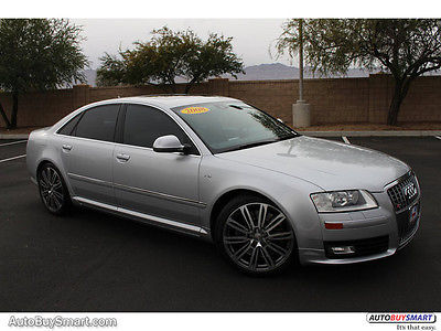 2008 Audi S8 5.2 2008 Audi S8 5.2 81454 Miles Ice Silver Metallic Sedan 10 Automatic