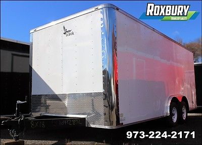 2017 Lark United 8x18 Enclosed Cargo Trailer Double Rear Doors