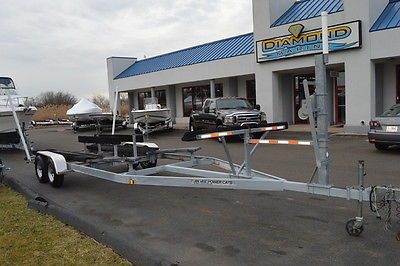 2005 Power Kat Galvanized Tandem Catamaran boat Trailer