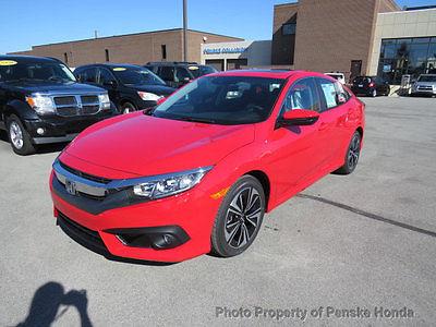 2017 Honda Civic EX-T CVT w/Honda Sensing EX-T CVT w/Honda Sensing 4 dr Sedan CVT Gasoline 1.5L 4 Cyl Rallye Red