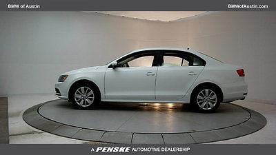 2015 Volkswagen Jetta  Low Miles 4 dr Sedan Gasoline 1.8L 4 Cyl Pure White