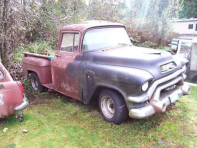1956 Chevrolet Other Pickups deluxe 1956 GMC shortbed deluxe BBW cab factory V/8 project like apache