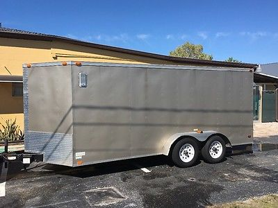 16ft enclosed v-nose utility / Motorcycle trailer / mint
