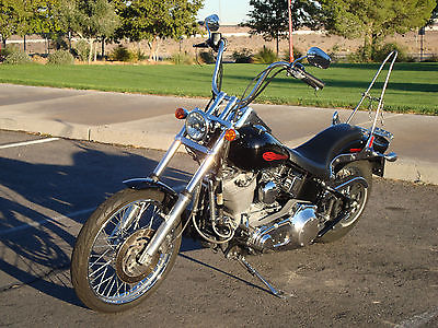 2005 Harley-Davidson Softail  Harley-Davidson 1960's style Old School Cool Custom FXSTi Fuel Injected Softail