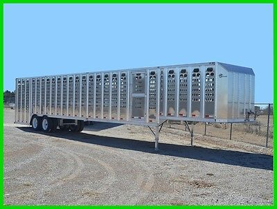 2017 Barrett 53' PGL Ground Load Stock Trailer New