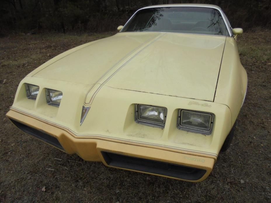 1980 Pontiac Firebird 1980 PONTIAC FIREBIRD ESPIRT RARE YELLOWBIRD W/ BUILD SHEET PROJECT CAR DRIVER