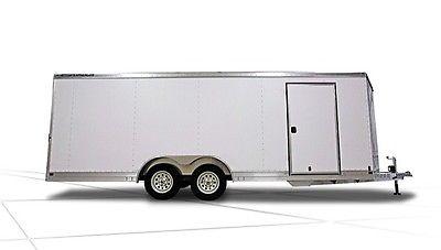 New 2013 Featherlite 20' White Enclosed Aluminum Car Trailer Model 1611
