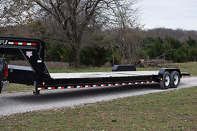 2014 PJ 36 foot gooseneck car hauler hydraulic tilt deck trailer equipment