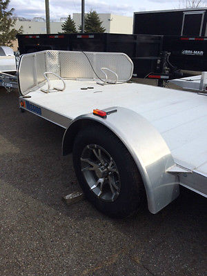 New 2015 Mission All Aluminum 6.5'x10' Open Double Motorcycle Trailer