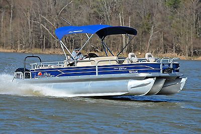 SUN TRACKER 24 FISHIN BARGE XP3 150HP *HD PICS* LOADED