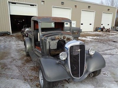 1936 Chevrolet Other Pickups grey 1936 CHEV TRUCK SHORTBOX PROJECT OLD HOT ROD PICK UP