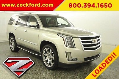 2015 Cadillac Escalade Luxury 4x4 6.2L V8 Automatic 4WD Bose Moonroof Navigation Bucket Seats DVD Entertainment