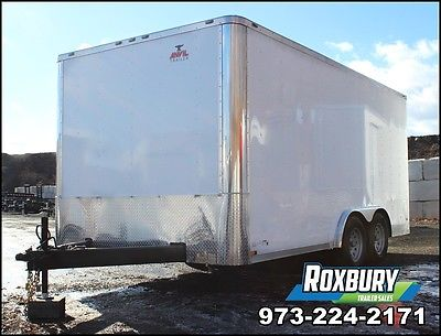 2017 Anvil 8x16 Enclosed Cargo Trailer 7K White 3500lb axles 5 year warranty