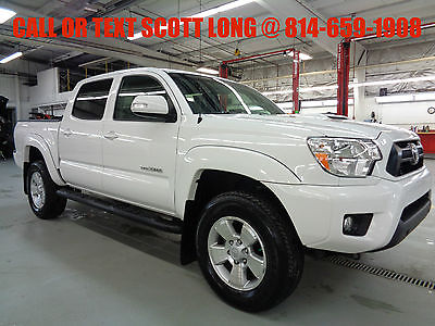 2014 Toyota Tacoma Double Cab TRD Sport V6 4.0L Automatic 4WD White Certified 2014 Tacoma Double Cab 4x4 V6 TRD Sport Hood Scoop Rear Camera 4WD