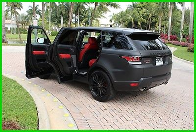2016 Land Rover Range Rover Sport Supercharged 2016 Supercharged Used 5L V8 32V Automatic 4WD SUV Premium Moonroof