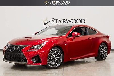 2016 Lexus RC F Used 2016 Lexus RC F Red Black Leather Navigation Blind Sport Heated Seats