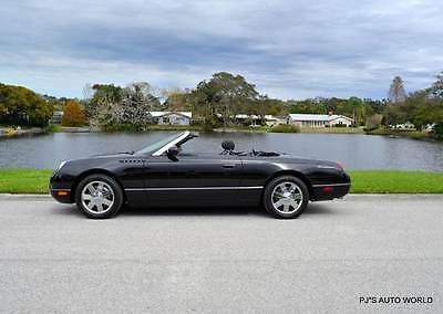 2002 Ford Thunderbird Deluxe 2dr Convertible 2002 Ford Thunderbird Deluxe 2dr Convertible 40,828 Miles BLACK Convertible 3.9L