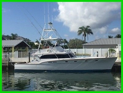 Rybovich 53 COLD MOLDED Sport+Fisherman 740 hours on Fresh Diesels VERY SHARP!