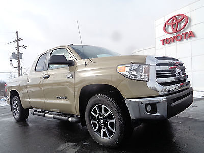 2017 Toyota Tundra New 2017 Tundra SR5 Double Cab 4x4 5.7L V8 4WD New 2017 Tundra Double Cab TRD Off Road 4x4 5.7 V8 Quicksand Bedliner 4WD Camera