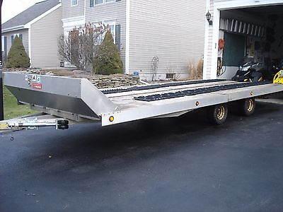 Aluminum 4 Place Custom Built Tilt Open Snowmobile Trailer