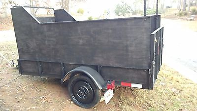 4 x 8 Utility Angle Iron Trailer with High Sides + Ramp Gate and 2 spare tires