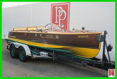 1927 Ditchburn 20' Classic Wooden Speed Boat, Gentleman's Racer w/trailor