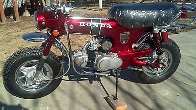"""HONDA CT70 ct 70 ST70 DAX 10/"""" rims set of 4 painted silver new metl reproduction"""