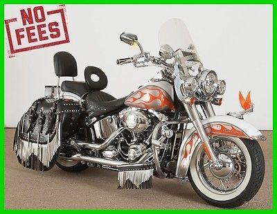 Softail 2009 Harley-Davidson Softail Deluxe FLSTN 2009 Harley Softail Deluxe 21k Custom Flames Chrome Lawless Harley-Davidson