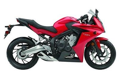 CBR CBR 650 13 New Sport Windscreen 650 Motorcycle Bike Red