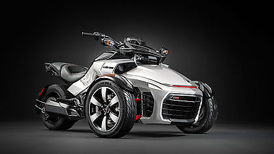 2015 Can-Am SPYDER F3S 1330 SPORT BIKE TRIKE  NEW 2015 CAN AM SPYDER F3S 1330 SM5 SPORT BIKE SILVER AND BLACK