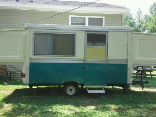 1978 Apache Royal Camper Vintage hard sided slide out ends sleeps 7 nice