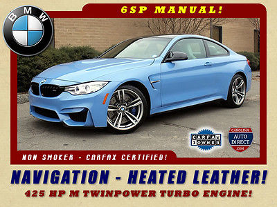 2015 BMW M4 M4 Coupe - NAVIGATION - HEATED LEATHER! CARBON FIBER ROOF-UPGRADED WHEELS-MICHELIN TIRES-CAT BACK EXHAUST-6-SP MANUAL!