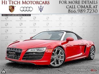 2011 Audi R8  2011 Convertible Used Gas V10 5.2L/318 6-Speed Automatic AWD Leather Red