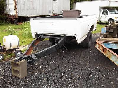 white bed trailer 8 foot bed heavy duty utility misc all purpose single axle, 0