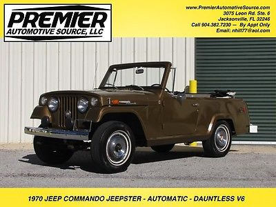 1970 Jeep Commando KAISER JEEPSTER COMMANDO LOW MILES AUTOMATIC VERY CLEAN ORIGINAL SOLID SURVIVOR CONDITION MUST SEE JEEP