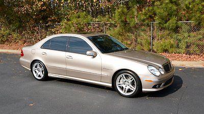 2003 Mercedes-Benz E-Class E55 2003 Mercedes-Benz E Class E55 Beige 4d Sedan 8 Auto