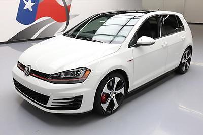 2016 Volkswagen Golf  2016 VOLKSWAGEN GTI SE PERF PKG 6SPD SUNROOF LEATHER 9K #063635 Texas Direct