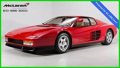 1986 Ferrari Testarossa Flying Mirror 1986 Ferrari Testarossa Flying Mirror Manual Transmission Rosso Corsa/Crema