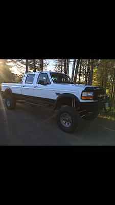 1997 Ford F-350 XL Crew Cab Pickup 4-Door 1997 f350 7.3 Powerstroke Diesel 5 speed crewcab fully built.