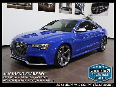 2014 Audi RS 5 4.2 2014 RS 5 RS5 Driver Assist Sport Exhaust Speang Blue Pearl B&O Sound