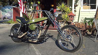 1972 Custom Built Motorcycles Chopper  1972 Arlen Ness Digger style Harley Chopper