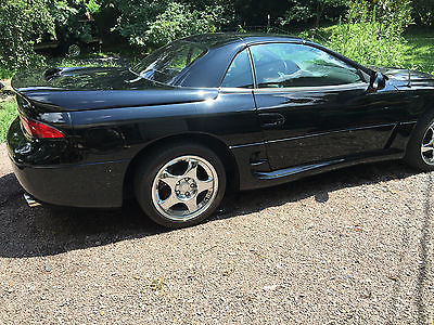 1995 Mitsubishi 3000GT VR4 Spyder Hard Top Convertible Rare collectible low miles 51k black 3000GT VR4 1995 spyder awd turbo hard top
