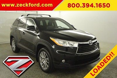2016 Toyota Highlander XLE V6 All Wheel Drive 3.5L AWD Moonroof Heated Leater Seats Navigation Reverse Cam Power Liftgate 3rd