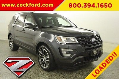 2017 Ford Explorer Sport All Wheel Drive 3.5L V6 EcoBoost AWD Twin Panel Moonroof Navigation Heated Leather Seats Bucket