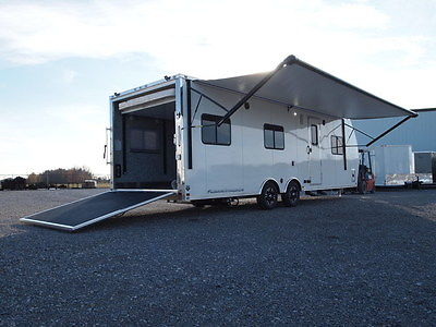 NEW 2017 RV ALL ALUMINUM TOY HAULER W/ LIVING QUARTERS - 8.5X28 ATC TRAILERS