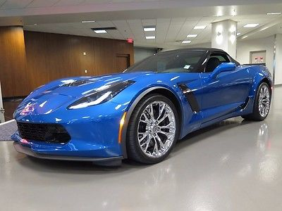 2015 Chevrolet Corvette STINGRAY Z06 2015 CHEVROLET CORVETTE STINGRAY Z06 LAGUNA BLUE CONV Supercharged OHV V8 Automa