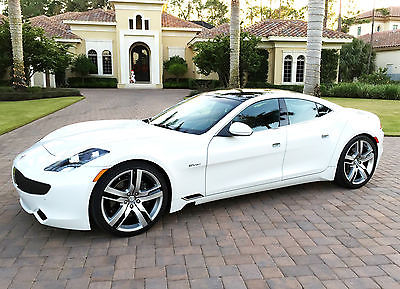 2012 Fisker Karma EcoSport Sedan 4-Door White Sand, Monsoon Tritone Interior, still has the new car smell!