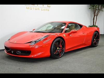 2010 Ferrari 458 Base Coupe 2-Door 2010 Ferrari 458 Italia  **CLEAN**  RED/TAN