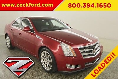2009 Cadillac CTS All Wheel Drive Sedan 3.6L V6 Automatic AWD Moonroof Leather Panoramic Moonroof MP3 CD Heated Seats